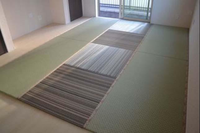 茶色とグリーンの畳